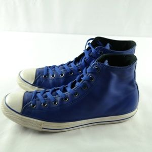 Converse Mens Sneakers Sz 12 Royal Blue Leather